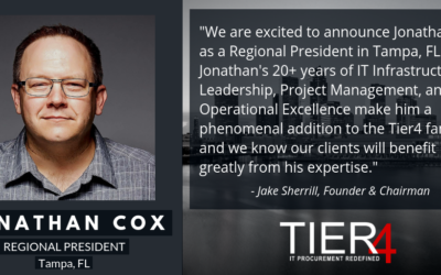 Tier4 continues to grow with newly appointed Regional President in Tampa, FL.