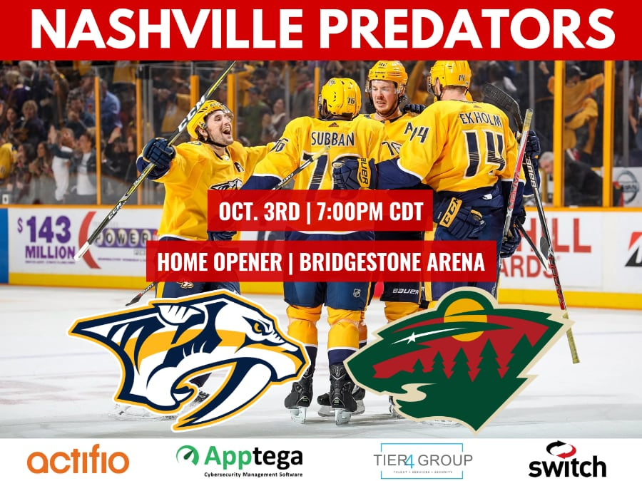 Tier4 Advisors | Predators Home Opener (TN)